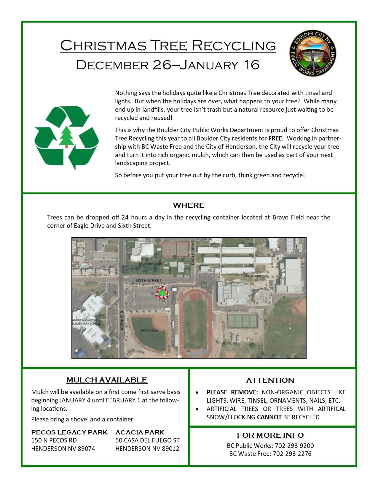 Xmas Tree Recycling Flyer
