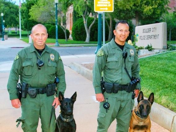 Keeping K-9s in Kevlar K9s Boulder City PD K9Luna K9 Lloyd
