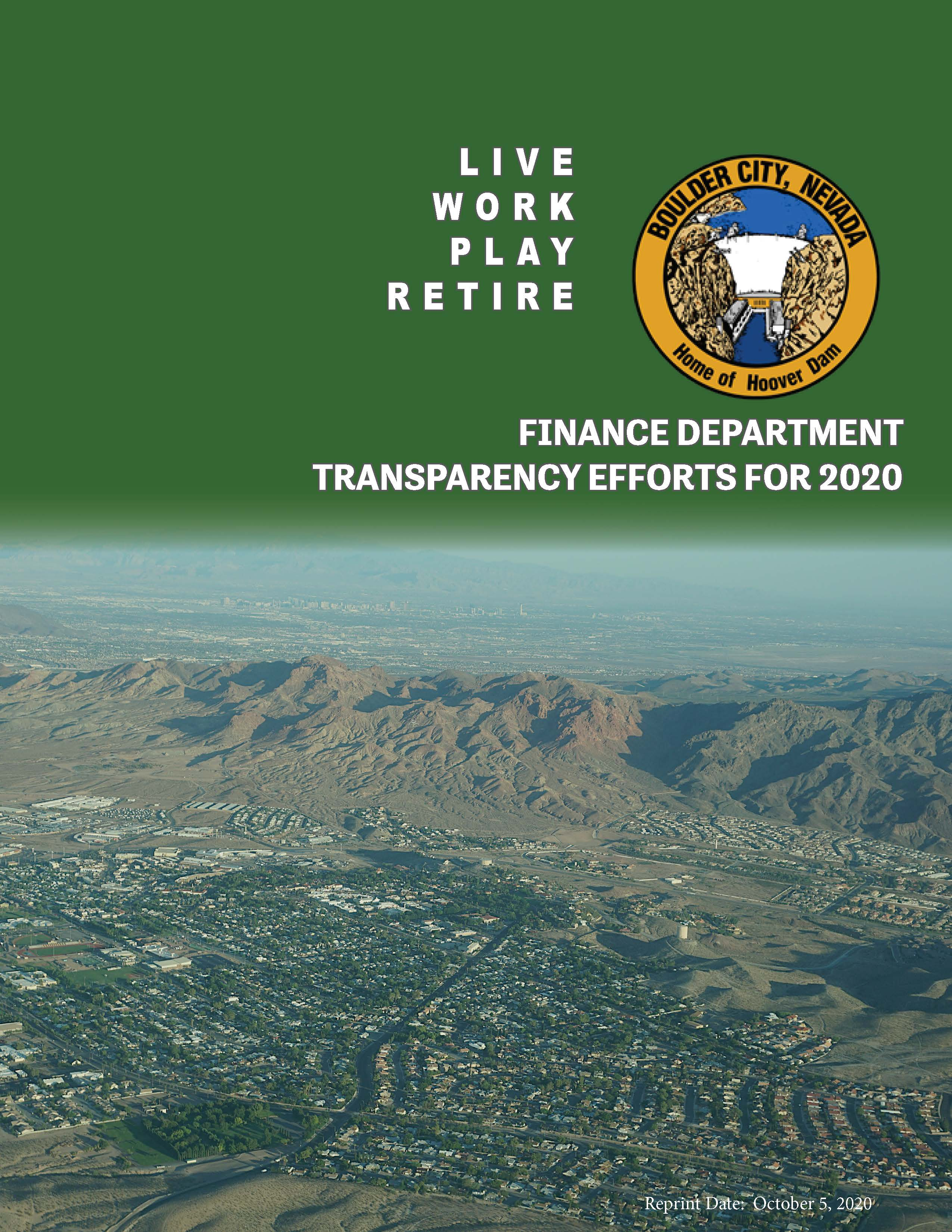 Cover Page for  Summary Transparency Brochure for 2020
