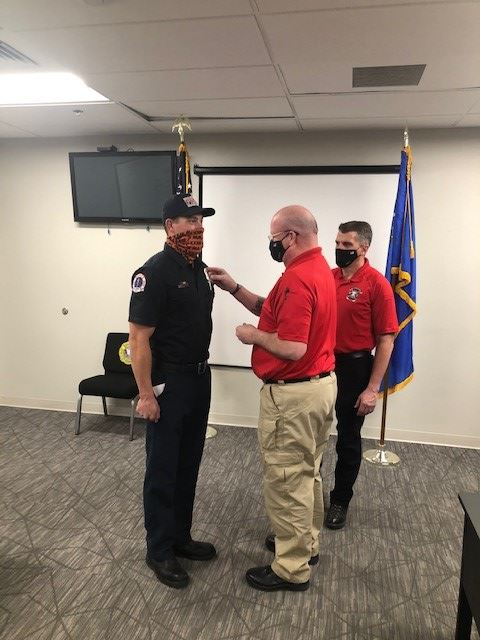 Reserve Firefighter Badge Pinning